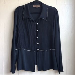 Double D Ranch Western Studded Button Down Top